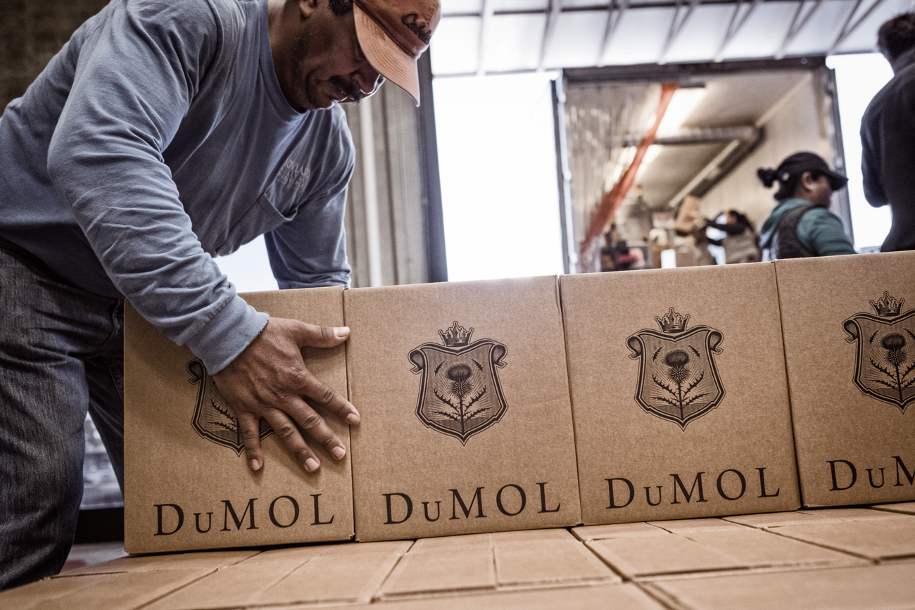 DuMOL Winery bottling cases