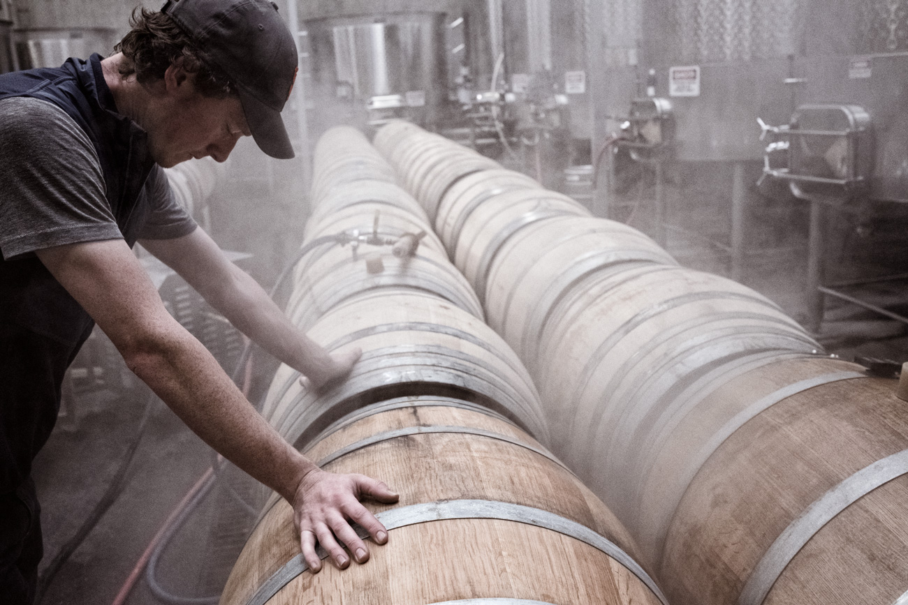 DuMOL Winery harvest barrel maintenance